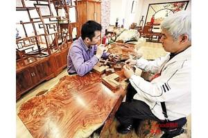 一种名贵木材近日出现在古典家具