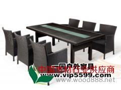 北京加长桌椅编藤胶木厂家首选一园户外家具