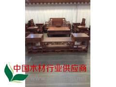 全实木茶几简约现代中式客厅创意方形抽屉茶几桌 古典家具