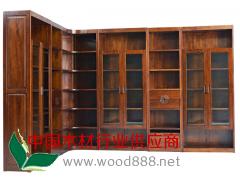 红橡实木书柜
