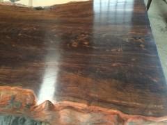 所罗门大叶紫檀原木大板桌