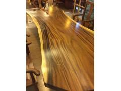 南美黑胡桃(琥珀木)原木大板