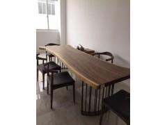 南美胡桃木大板桌