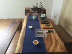 黑胡桃大板桌