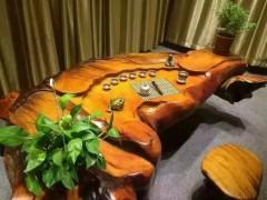 优质老挝花梨根雕茶台批发