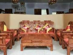优质红木双象沙发批发