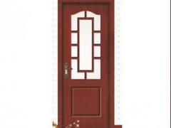 川广木业-玻璃门定制直销高档烤漆室内复合木门【平角线条】