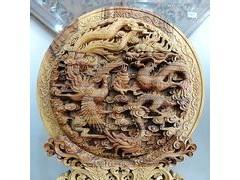 木雕复古屏风创意工艺品实木家居小摆件时尚饰品客厅礼品木雕摆件