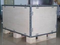 大型钢边箱 出口免熏蒸胶合板木箱定做 钢带箱