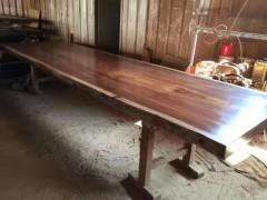 实木大板奥坎大板桌价优工厂直销 老板办公桌