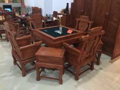 厂家批发 红木家具仿古典实木麻将桌 特价非洲花梨木电动麻将台