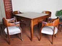 欧式全自动实木麻将桌  红木花梨麻将桌