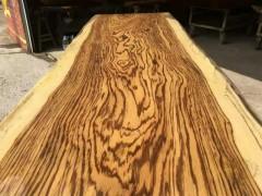 斑马木乌金木 实木大板桌 实木原木板材茶几画案书桌台面大班桌