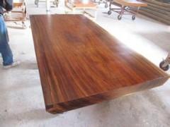 奥坎大板实木 红木画案茶桌 特价餐桌老板办公会议桌 现货