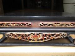 高端打造清代描金小佛桌 专业手工雕制精品花纹  佛桌