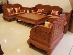 缅甸花梨家具 花梨沙发 实木花梨沙发  红花梨沙发家具