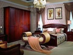 非洲花梨木卧室家具  非洲花梨中式家具 花梨大床 花梨衣柜