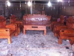 缅甸花梨 财源滚滚沙发 十一件套、精致修花!精品打磨 凭祥市匠心居红木家具店