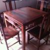 老挝大红酸枝方桌 五件套精品 无白皮