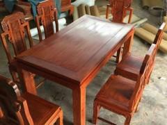 缅甸花梨象头餐台 全独板无拼补无白皮好货 凭祥市匠心居红木家具店