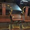 老挝大红酸枝交椅 三件套精致做工 凭祥