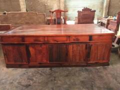 老挝大红酸枝写字台书桌办公家具老挝大红酸枝书桌红木书台凭祥市匠心居红木家具店