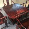 老挝大红酸枝六角茶台 茶台尺寸90.90