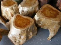 根雕椅凳墩、枣木墩子、杉木墩子、方凳子、圆形椅凳