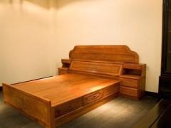 供应东阳红木卧室家具 非洲花梨木 辉煌双人大床