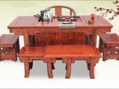供应红木家具茶室专用桌子 非洲花梨木客厅柜 花边茶水柜