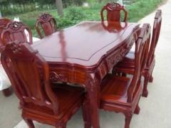 供应东阳木雕红木家具 非洲花梨木家具 明式餐椅