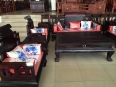 精品大红酸枝黑料 大富贵沙发 汉鼎红木家具厂出品