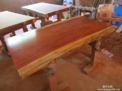厂家直销 巴花大板 实木大板 真材实料 价格优惠