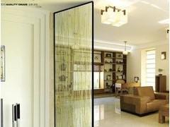 移动玻璃隔段  移动玻璃隔断门 折叠移动玻璃隔段