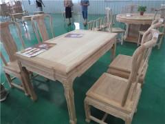 德州古典老榆木餐桌椅白茬批发