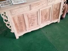 老榆木私人定制家具|雕花酒柜