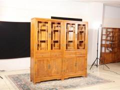 老榆木实木酒柜 玻璃酒柜 酒店酒柜 新古典装饰柜 一手货源