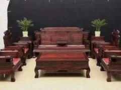 大红酸枝精品十件套红木沙发,熙源红木专业生产批发