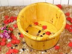 21CM足浴木桶天然香柏木加厚木头洗脚盆养生桑拿房用泡脚桶