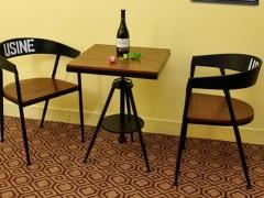 美式复古休闲椅铁艺实木餐椅铁木椅电脑靠背餐椅创意咖啡金属椅子