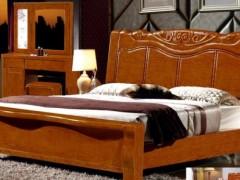 厂家直销精品橡木实木大床,实木衣柜
