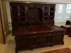 非洲酸枝红木古典家具,非洲酸枝大班台3件套批发