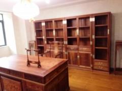 缅甸花梨书桌三件套各种规格均可定制堂旺世家古典家具厂出品
