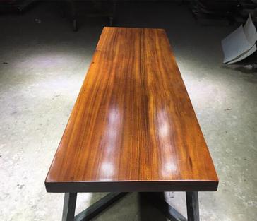 非洲花梨实木板材桌茶台茶几原木大板整张木板桌书桌