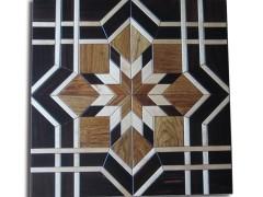 沪卓木业艺术拼花阻燃地板600mm实木复合地板厂家联系方式