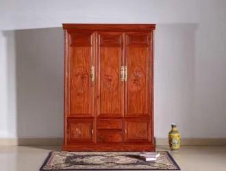 精品红木衣柜各种规格,均可定制加工