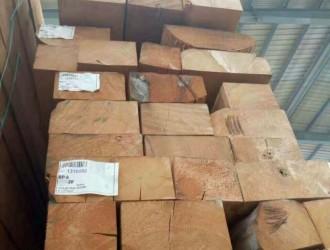 100多方黄雪松方木处理尽在山东震恒木业