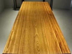 榕盛木业专业订制精品乌金木大板,整体无拼接