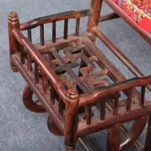 仙作大红酸枝宝宝椅子