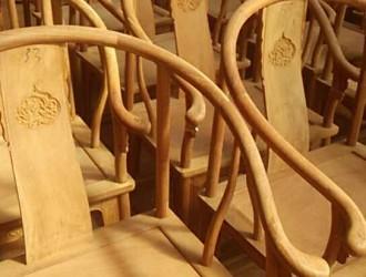 草花梨圈椅